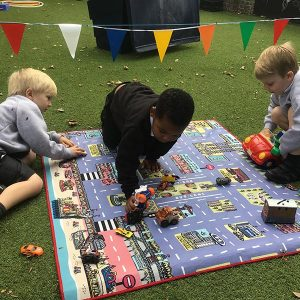 Schoolchildren Playing on a Brighton Hippo Mat™ at School - Best Kids Toy 2021